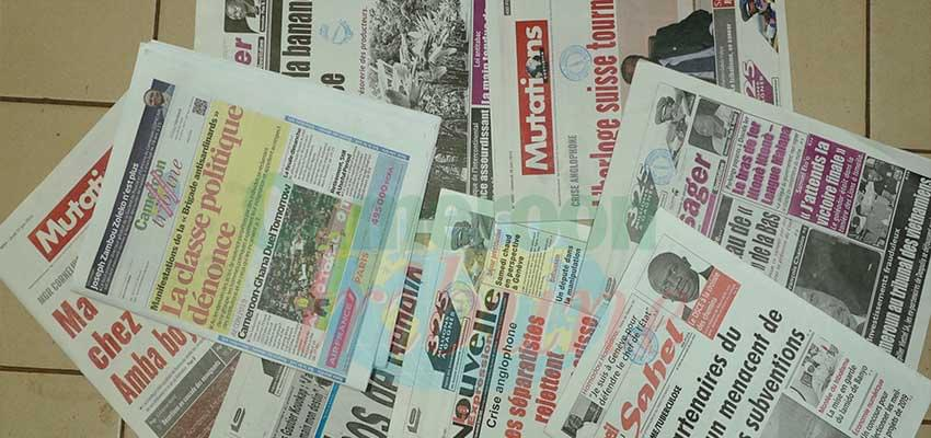 Photo Caption: Cameroon Tribune remains the Queen mother of the media in Cameroon.