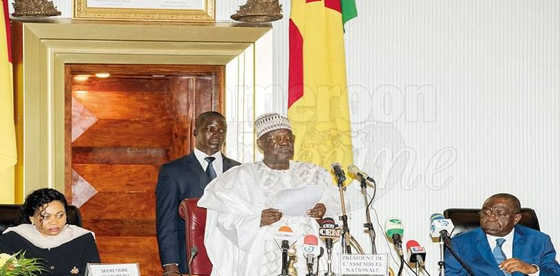 Image : National Assembly: President-elect Paul Biya Congratulated