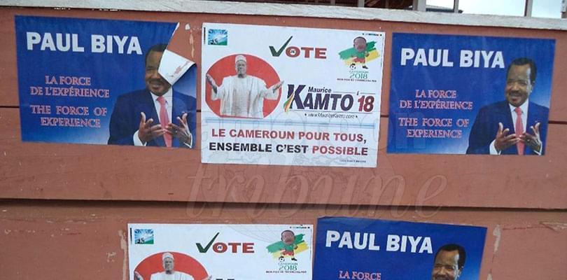 Image : Bertoua: La campagne des affiches bat son plein