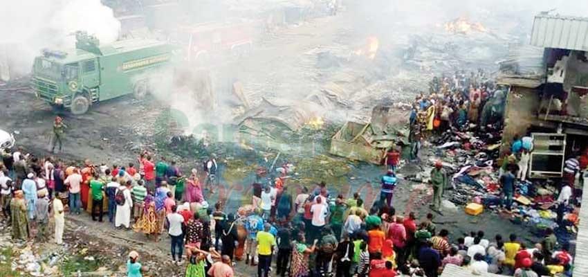 Sinistre: le marché Congo en feu