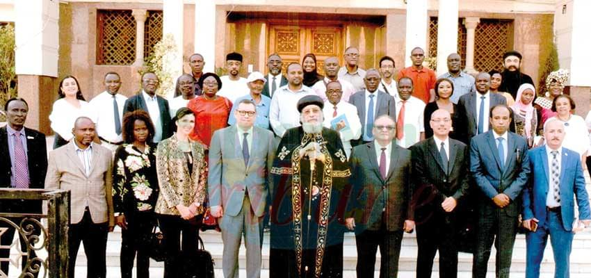 African Media professionals and H.H. Pope Tawadros of the Coptie church.