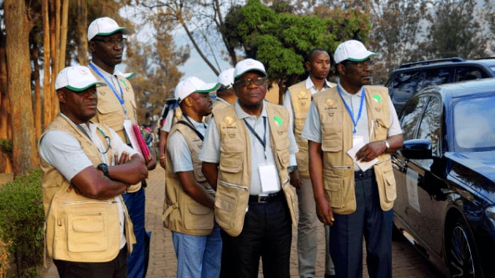 Image : Election Monitoring: AU Observers At Work
