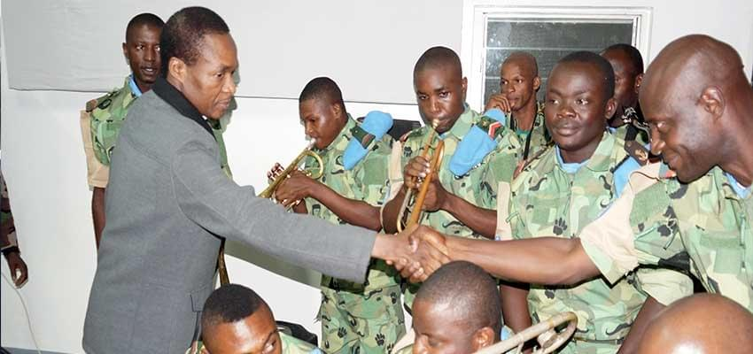 Image : MINUSCA: Cameroon Contingent Hailed