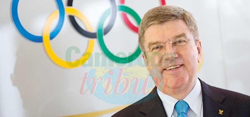 Comité international olympique : Thomas Bach à Yaoundé