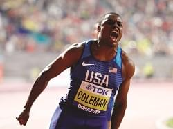 Christian Coleman the new fastest man in the world.