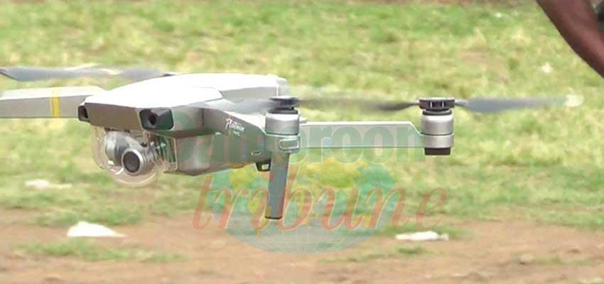 South West : Gendarmerie Camera Drones Hovering Over Buea