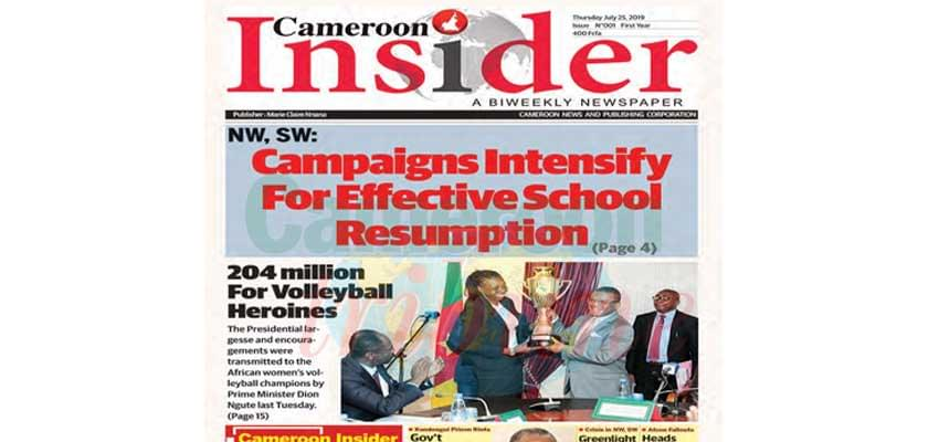Cameroon Insider : Maiden Newspaper In Pure Anglo-Saxon Style