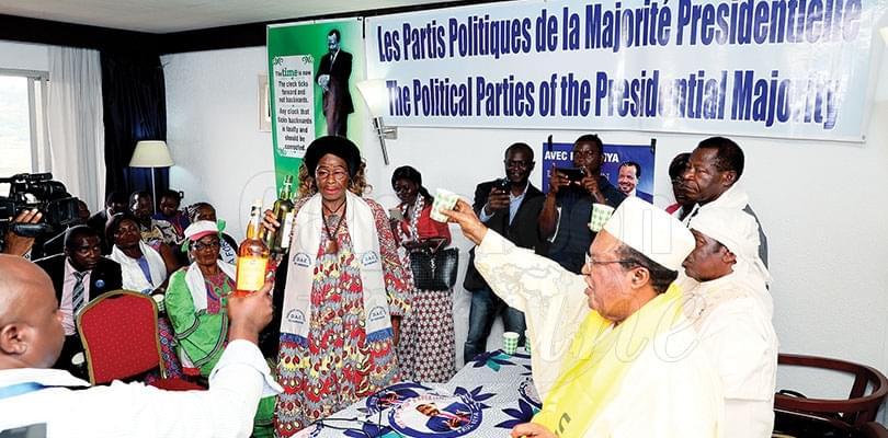 Image : Majorité présidentielle: on célèbre la victoire