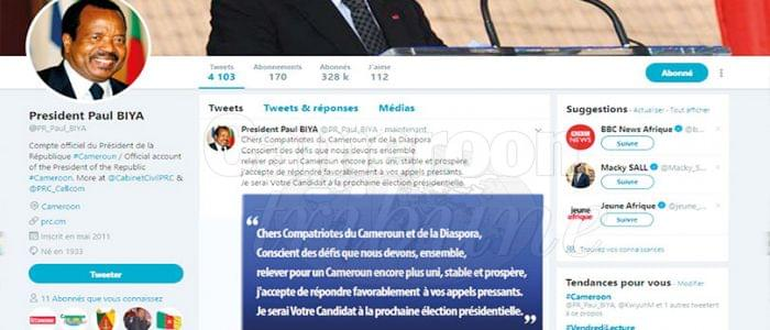 Image : Paul Biya candidat