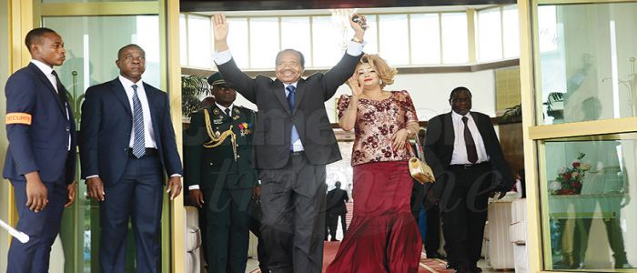 Image : After Participating In CEMAC Summit: Presidential Couple Back Home