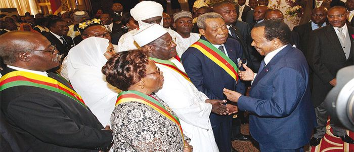 Image : Biya, State Dignitaries Salute Advent Of 2017