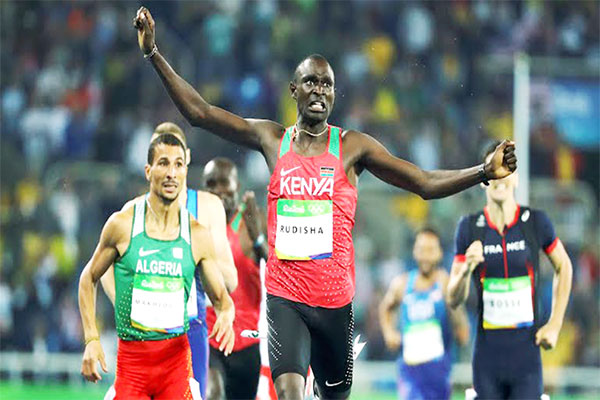 David Rudisha en or massif