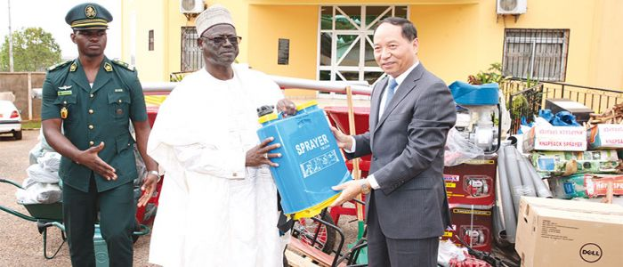Ex-Servicemen, War Victims: China Donates Office, Agricultural Tools