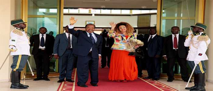 Paul et Chantal Biya de retour à Yaoundé