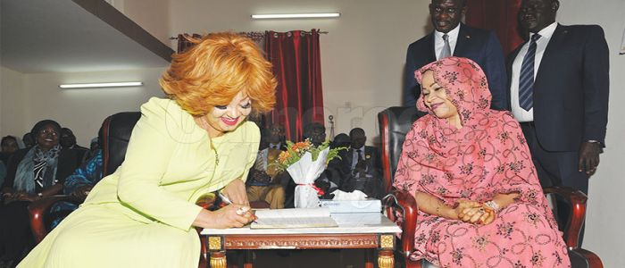 "Image : Chantal Biya Visits ""Great Heart Foundation"""
