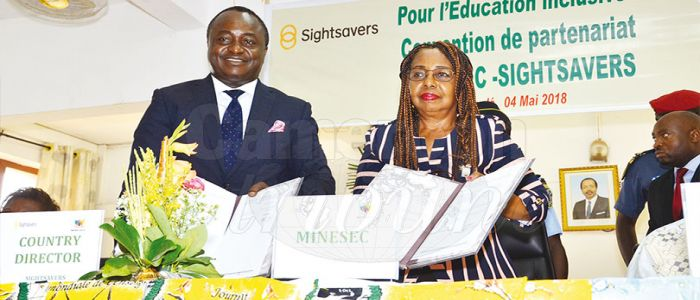 Image : Inclusive Education : MINESEC Signs MOU With Sightsavers