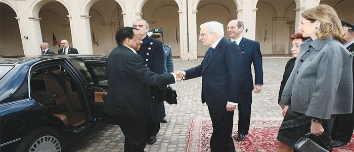 Paul Biya - Sergio Mattarella: Convergent Views On Subjects Discussed