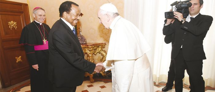 Image : Paul Biya And Pope Francis Meet Again